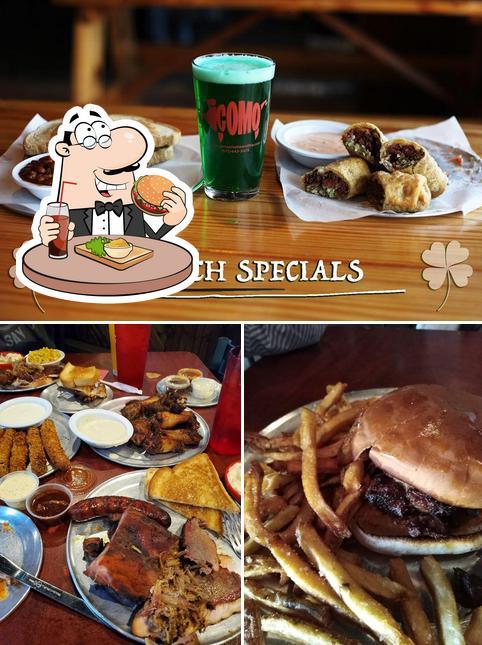 Get a burger at Como Smoke and Fire