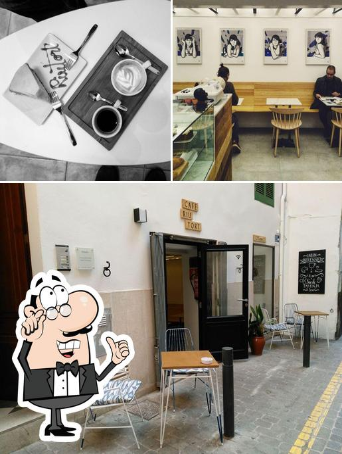 El interior de Cafè Riutort