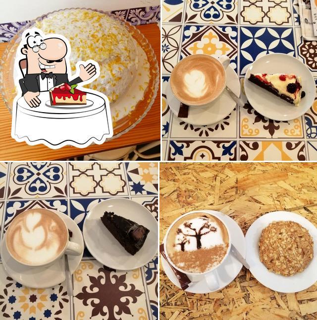 Mocca Coffee Shop serve uma variedade de sobremesas