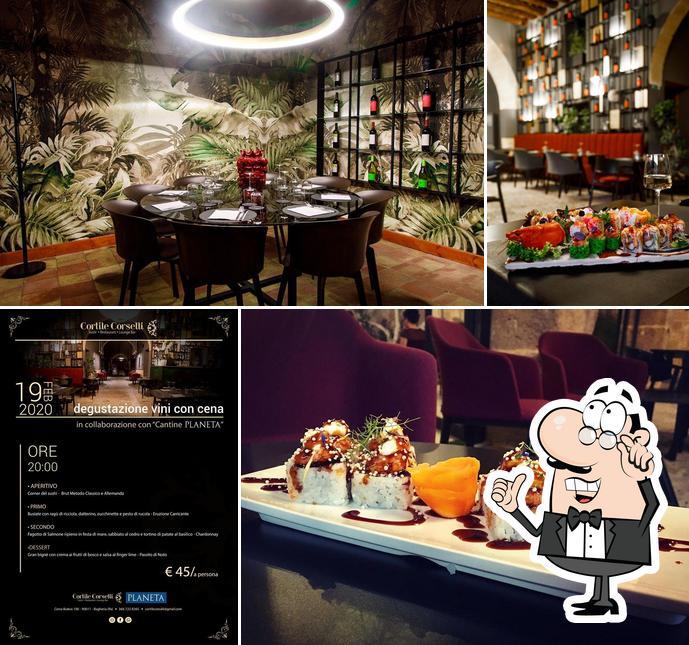 The interior of Cortile Corselli Sushi & Restaurant
