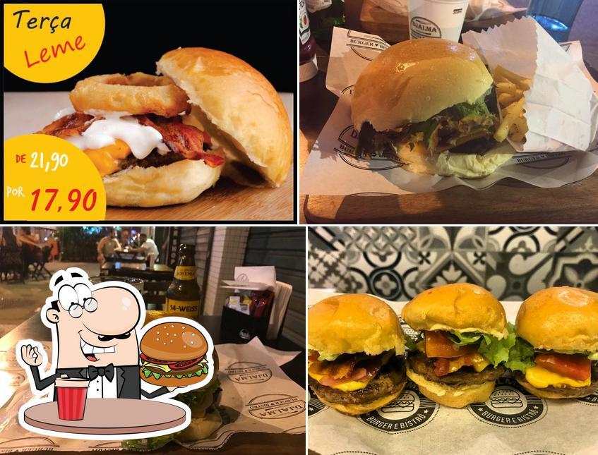 Os hambúrgueres do Djalma Burger Bistrô irão saciar diferentes gostos