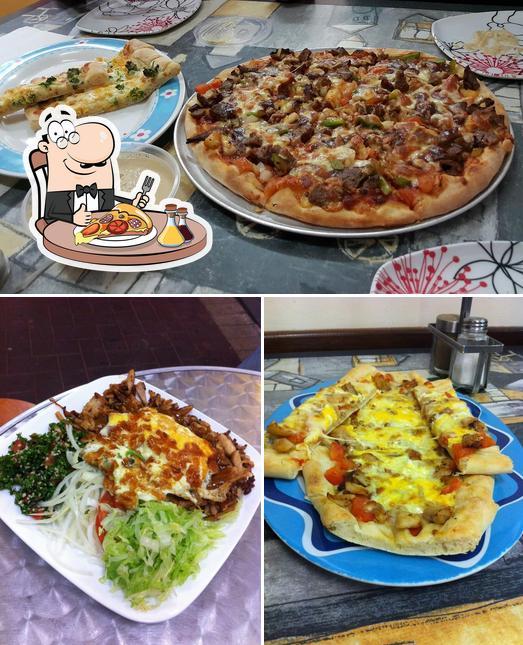 Pick pizza at ISTANBUL KITCHEN