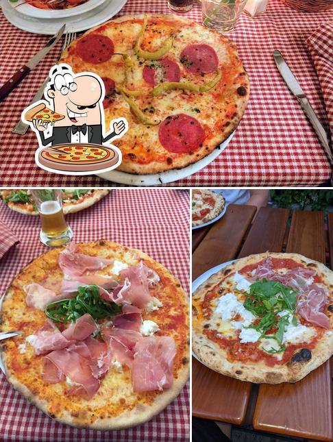 Try out pizza at Taverna Italiana