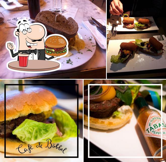 Order a burger at Café De Bóbbel