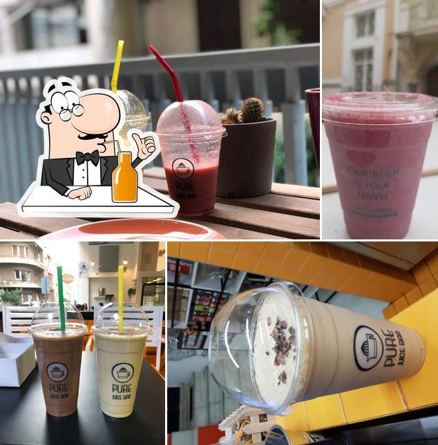 Enjoy a beverage at PURE Juice Bar