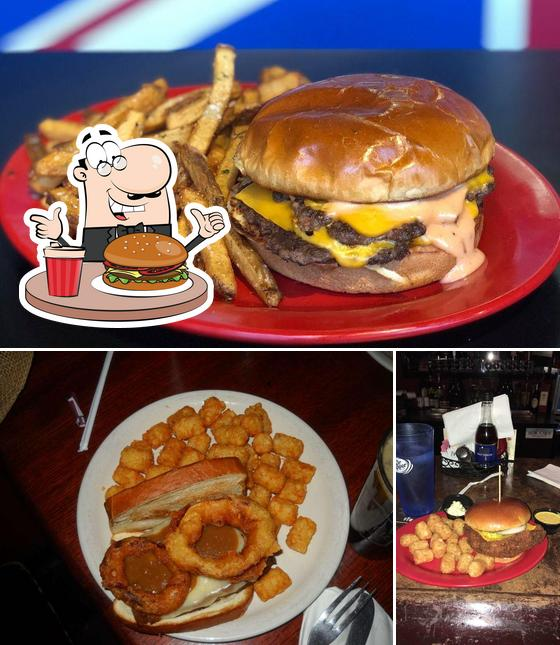 Try out a burger at Red Lion Grog House