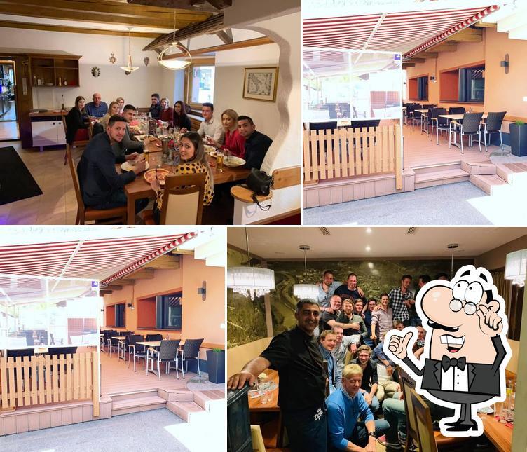 Die Inneneinrichtung von Alpenrestaurant Ried
