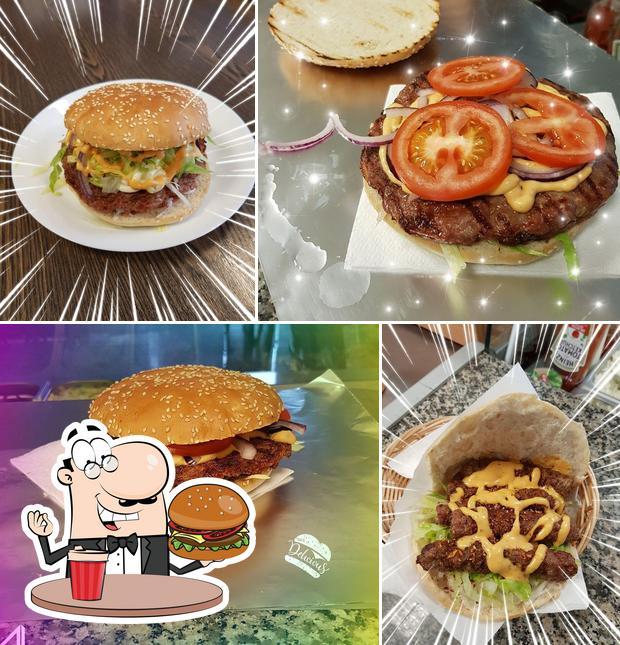 Holt einen Burger bei Balkan Grill Novi Pazar