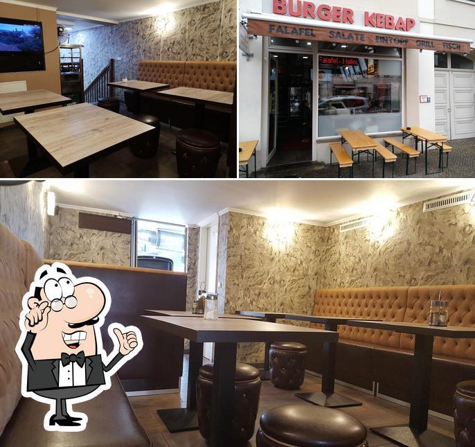 The interior of Burger Kebap