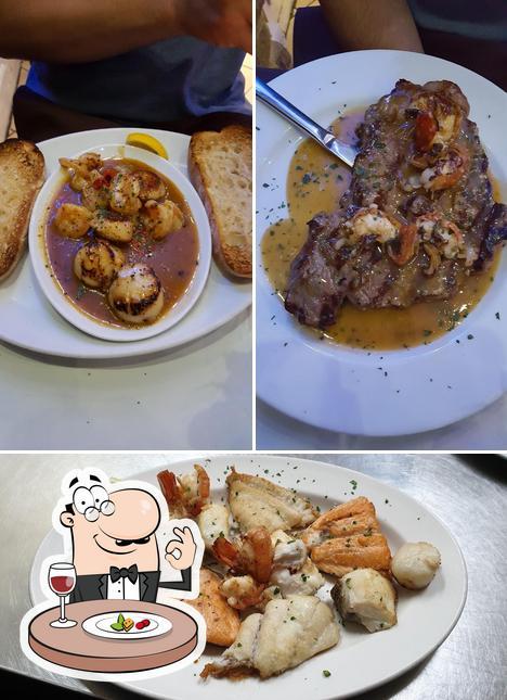 Food at Casa Nostra Restaurant
