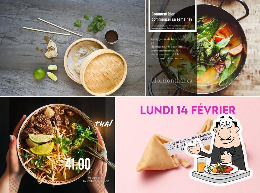 Comida en Horizon Thai