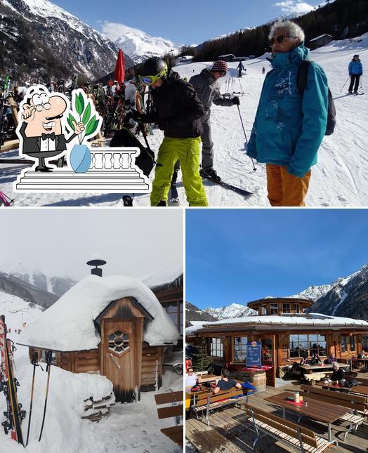 Schaut euch an, wie Skirestaurant Bergzauber von außen aussieht