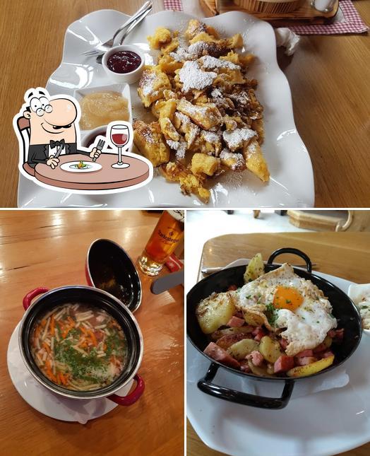 Essen im Skirestaurant Bergzauber