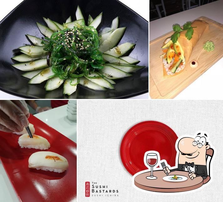 Food at The Sushi Bastards
