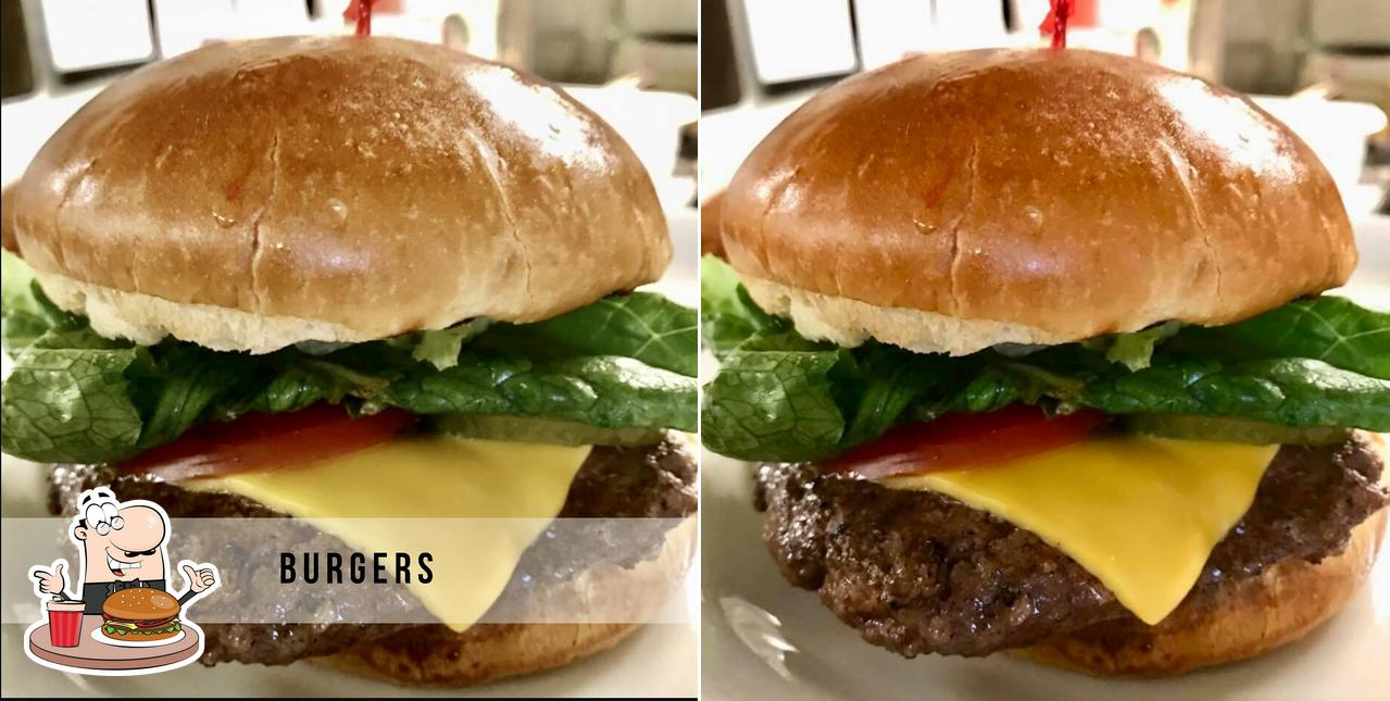 Get a burger at Bec's at the Lake Restaurant and Catering
