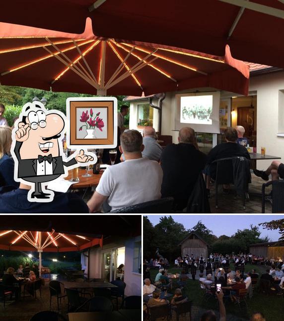 Die Inneneinrichtung von Café, Restaurant Schillergarten Inh. Th. Funk