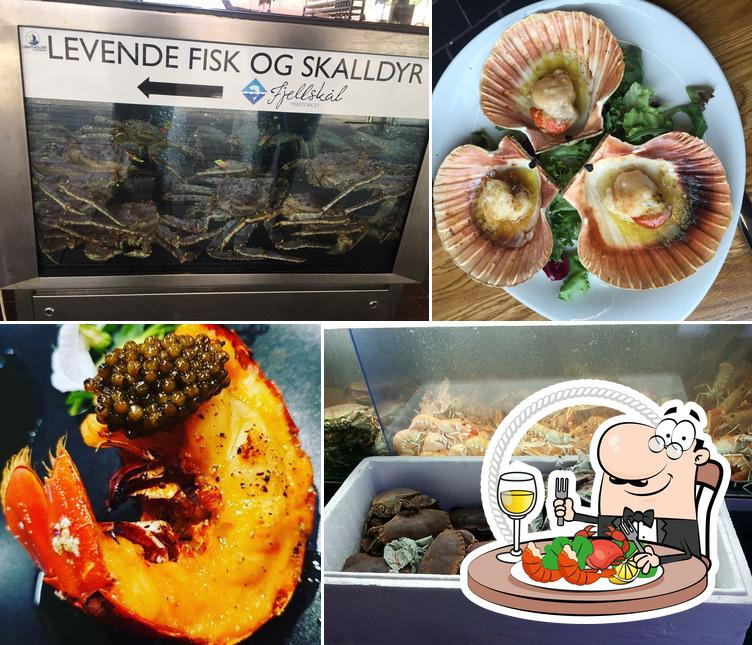Get different seafood meals offered by Fjellskål