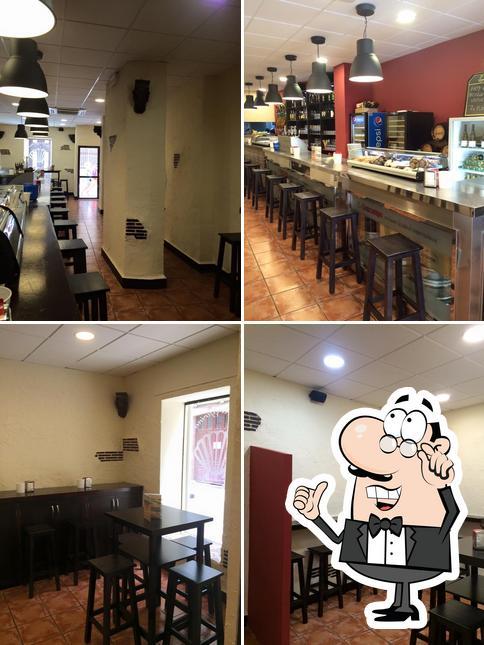 The interior of Marisqueria Cerveceria La Peregrina Malaga Centro