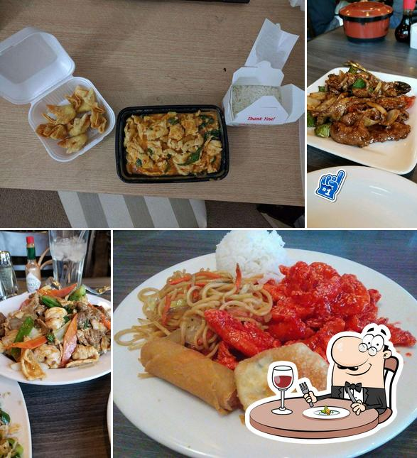 Food at George & Son's Asian Cuisine