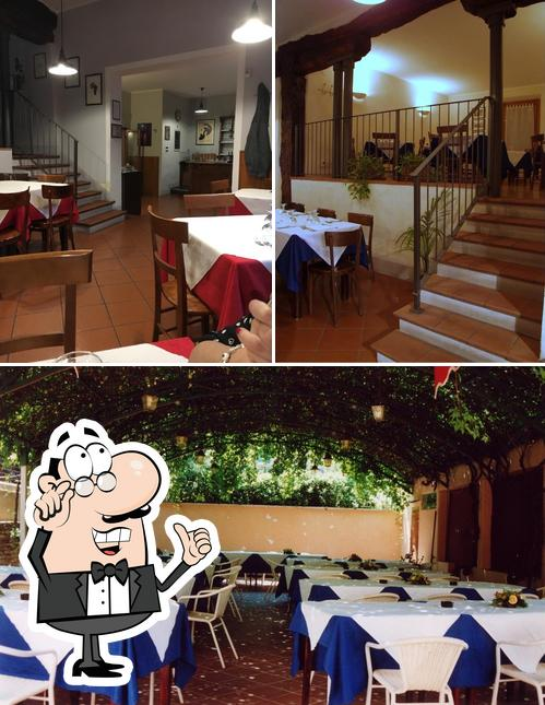 The interior of Il Cucco