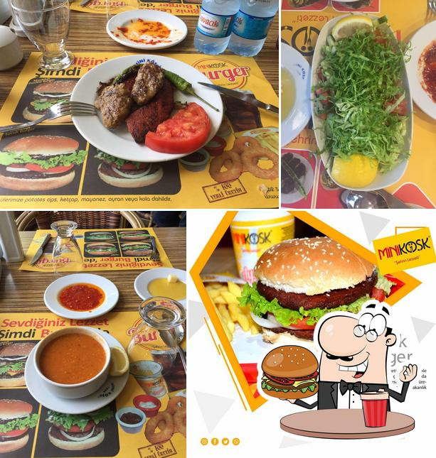 Try out a burger at Mini Köşk