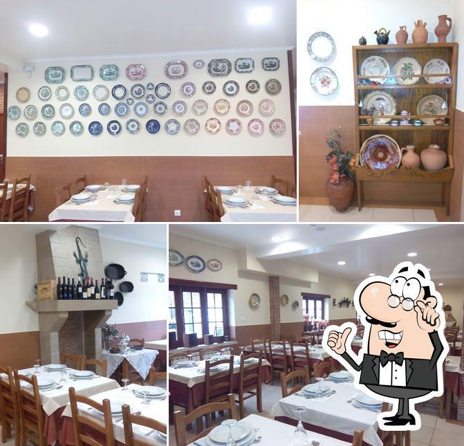 O interior do Restaurante O Lagarto
