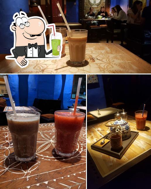 Enjoy a beverage at Pokhara