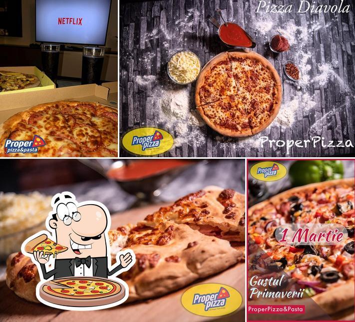 Elige una pizza en Proper Pizza