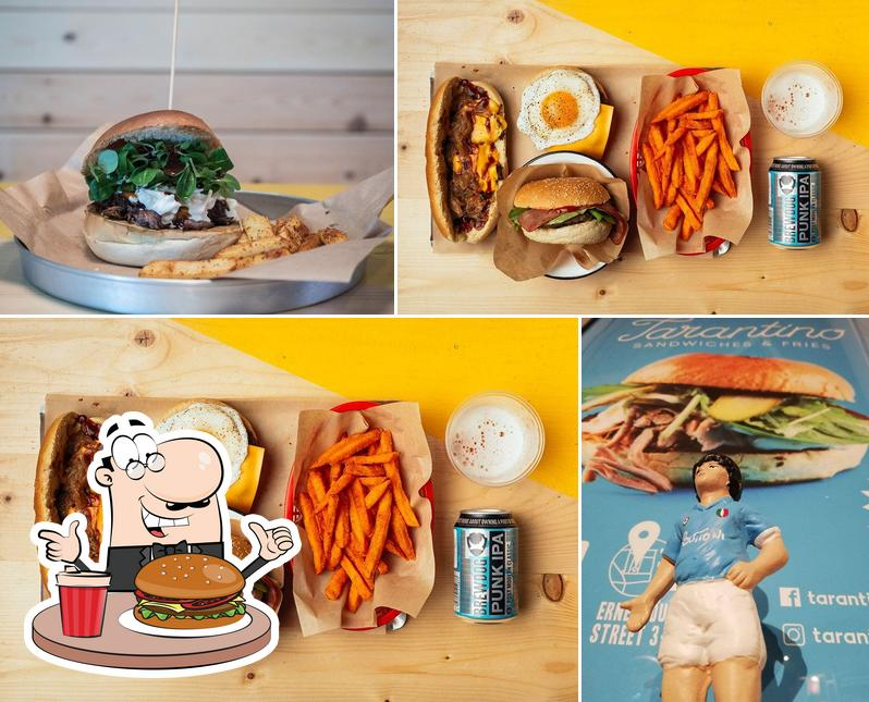 Try out a burger at Tarantino Sandwiches & Fries