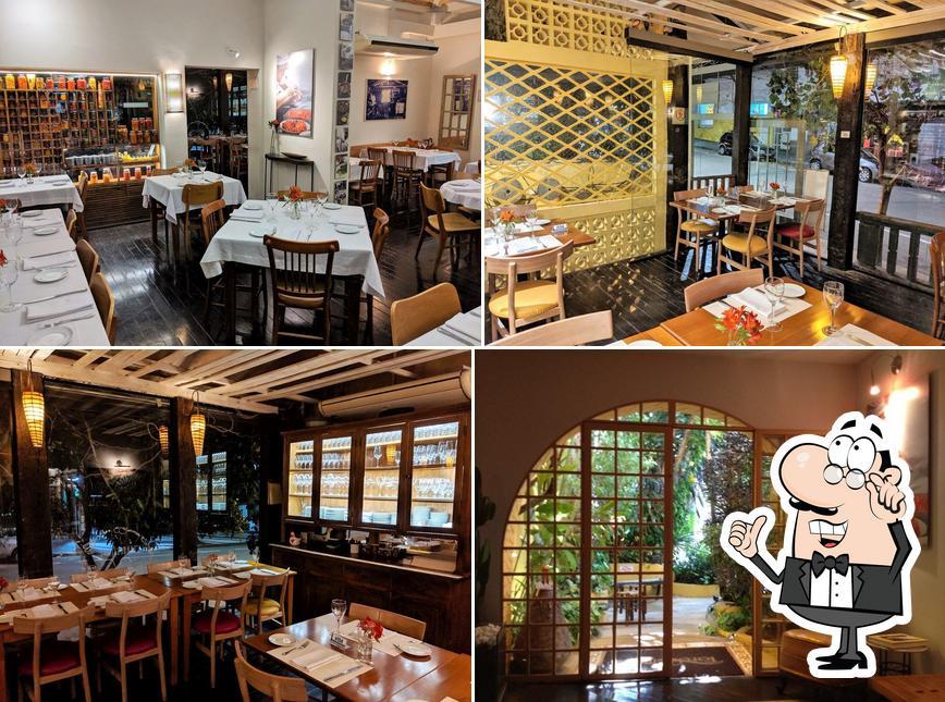 O interior do Restaurante Tordesilhas Cozinha Brasileira