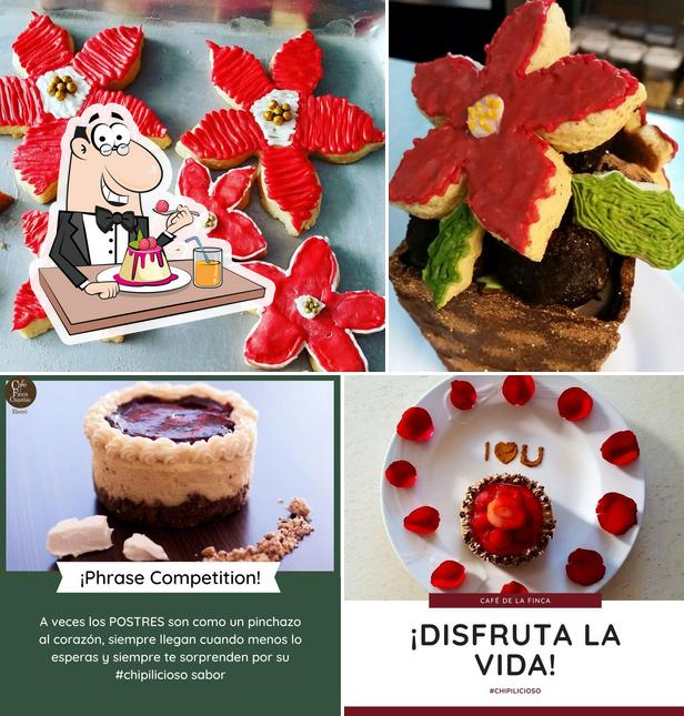 Café de la Finca serves a range of sweet dishes