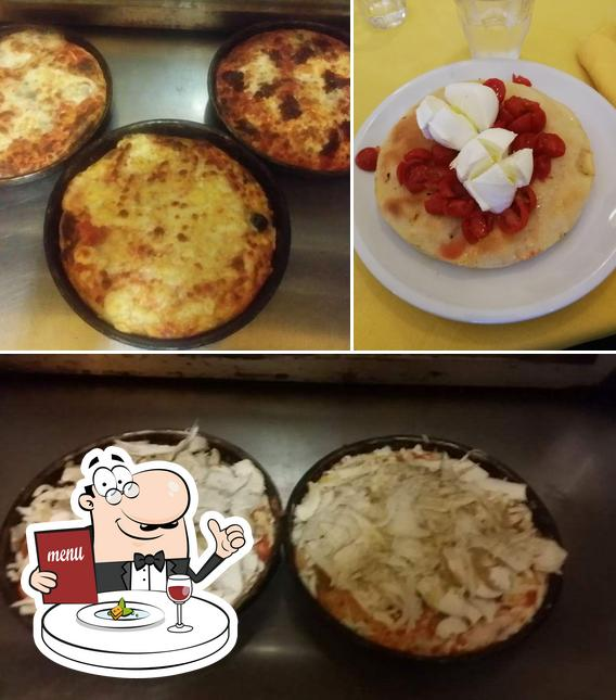 Food at Pizzeria Exilles