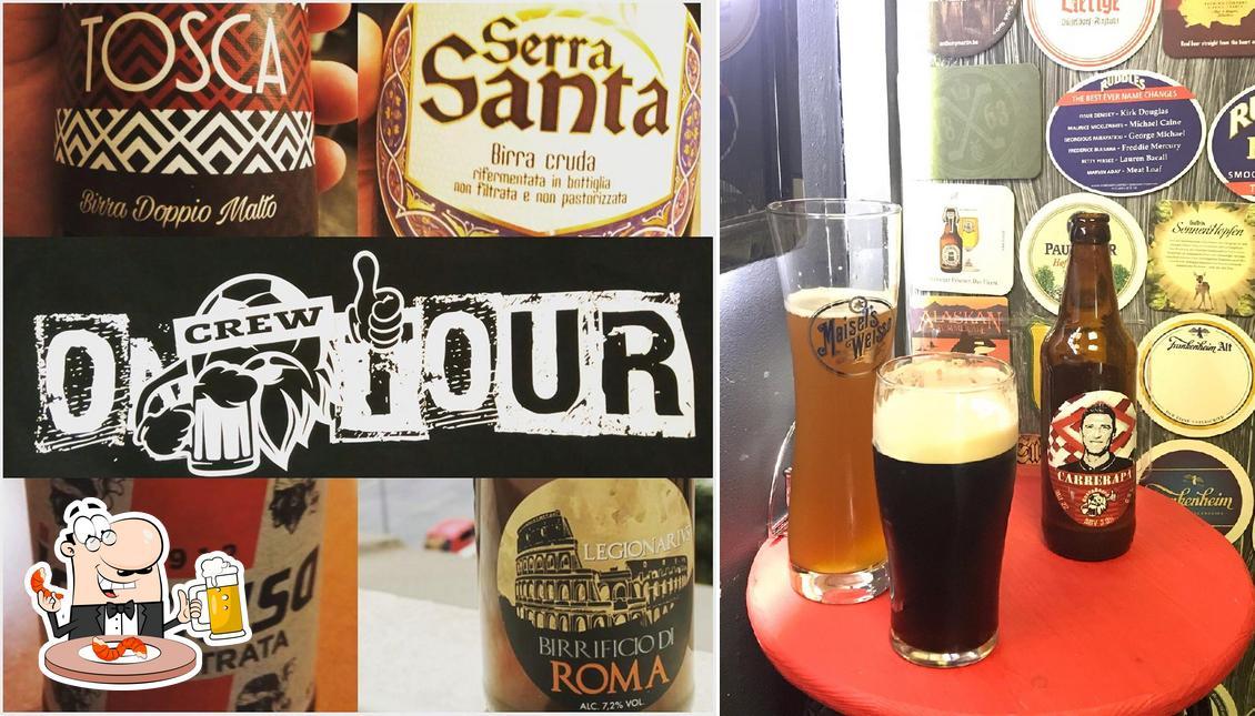 Enjoy a pint of light or dark beer