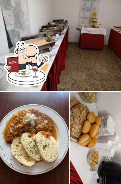 Essen im Bergbaude Albrechts