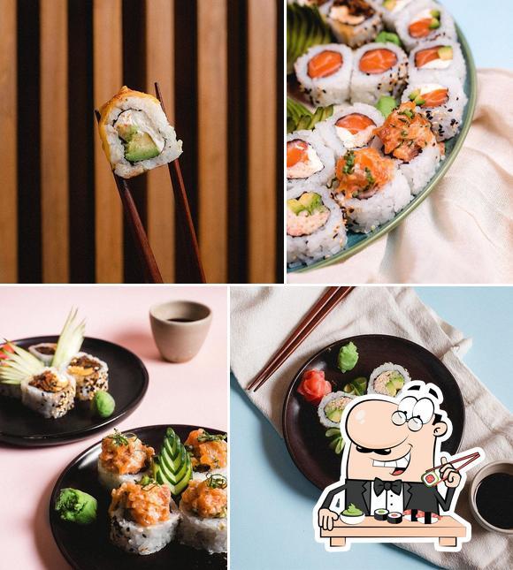 Pide uno de sus distintos tipos de sushi
