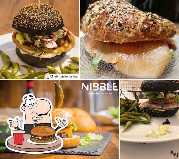 Prueba una hamburguesa en Nibble