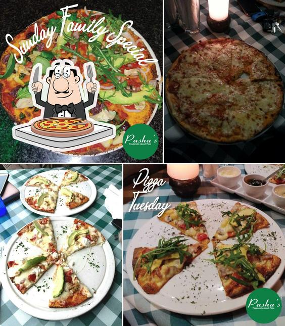 Try out pizza at Pasha's