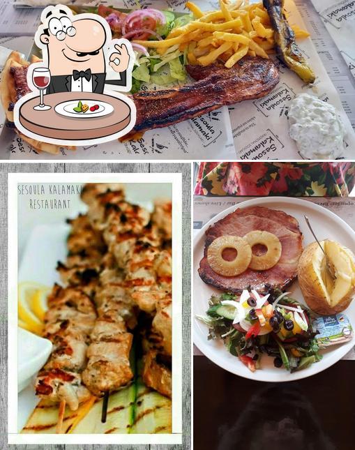 Food at Sesoula Kalamaki