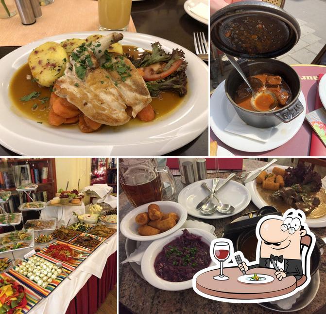 Essen im Restaurant im Literaturhaus