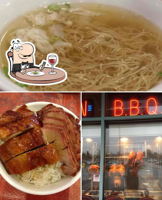 Food at Danny's Wun Tun Restaurant