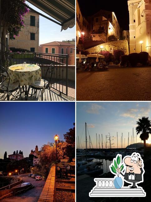 Genießt die Aussicht im Außenbereich von A Veggia Baracca