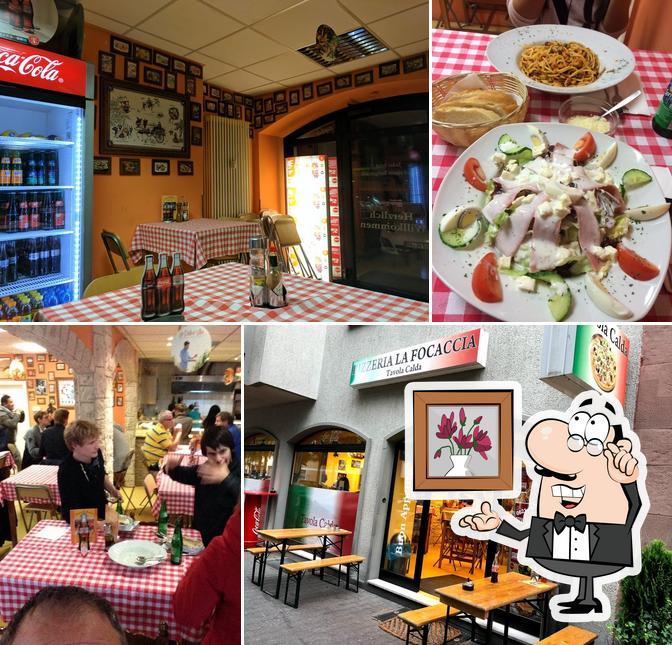 L'intérieur de La Focaccia Pizzeria