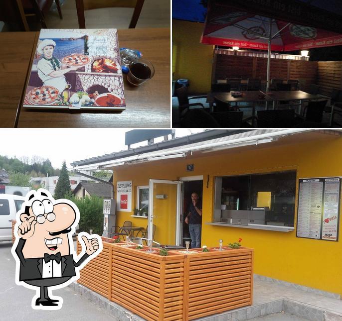 Die Inneneinrichtung von Mega - Pizza & Kebab