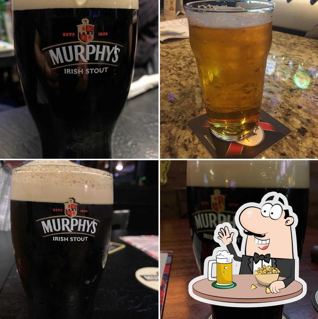Enjoy a glass of light or dark beer