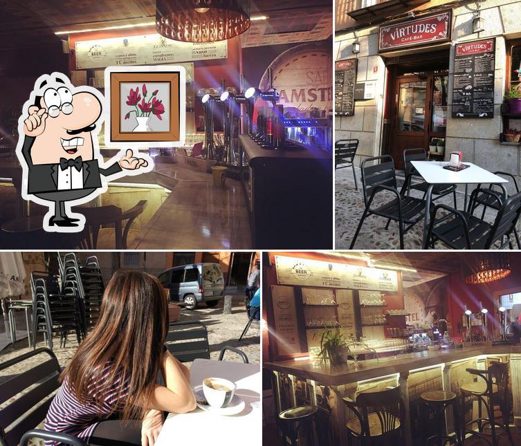 El interior de Virtudes Café Bar