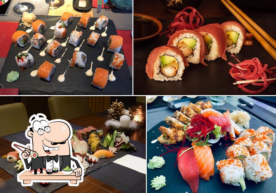 Wählt verschiedene Sushi-Optionen