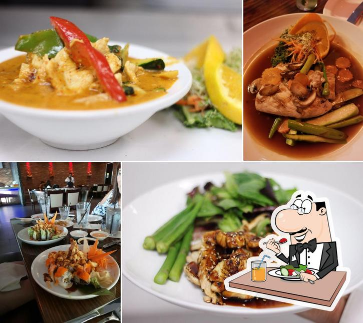 Food at Moon Thai & Japanese