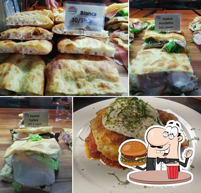 Order a burger at Pala