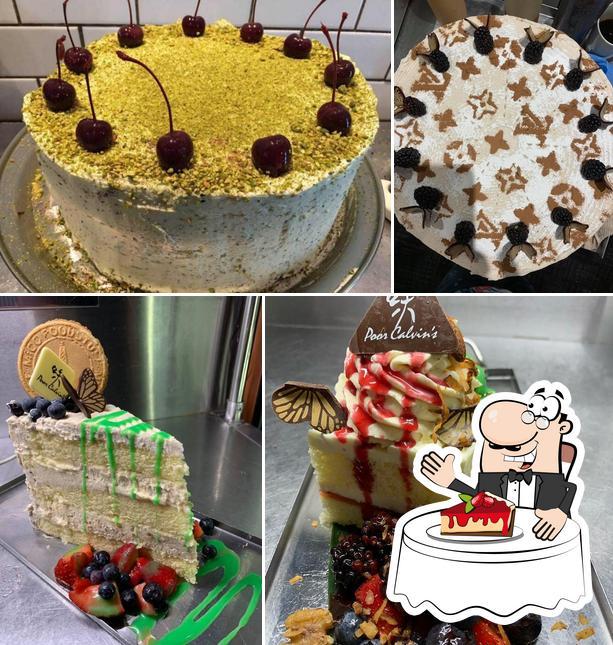 Poor Calvins provides a range of desserts