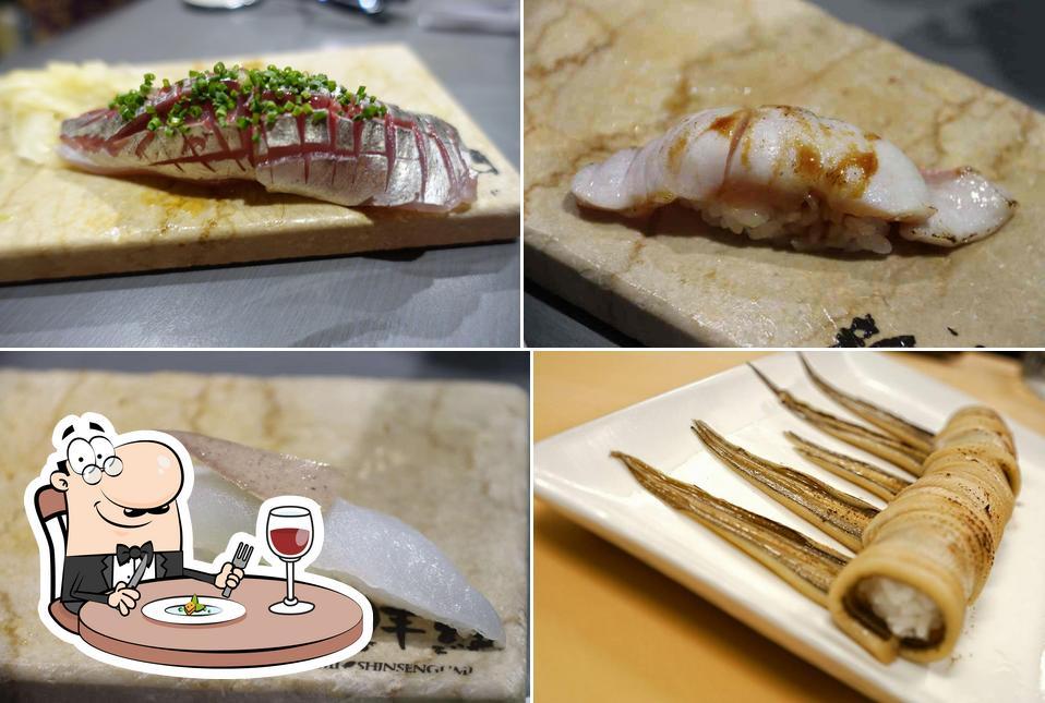 Food at Sashimi Shinsengumi